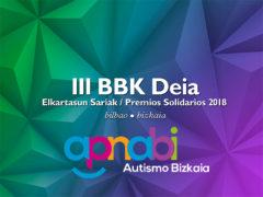 APNABI, reconocida con el premio solidario BBK Deia 2018