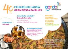 Gran Fiesta de las familias de APNABI, el 7 de julio