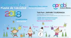 La Fiesta de Navidad de APNABI, el viernes 21 de diciembre en el txikipark Jaipark, de Txurdinaga