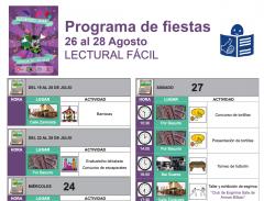 APNABI Autismo Bizkaia colabora con las fiestas de Basurto adaptando el programa de fiestas a lectura fácil