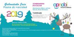 La Fiesta de Navidad de APNABI, el viernes 20 de diciembre en el parque temático Tximipark, de Santutxu