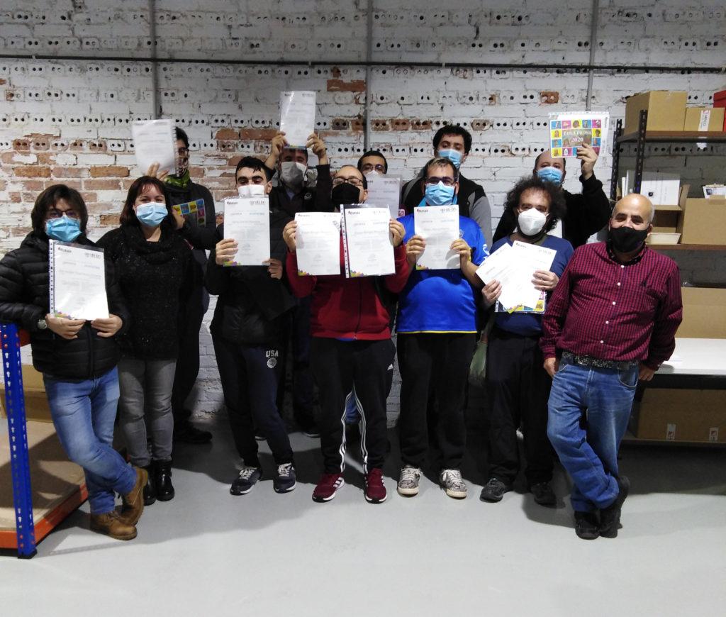 14 personas con TEA se forman en reprografía gracias al programa foral Lan Berri y APNABI Lan
